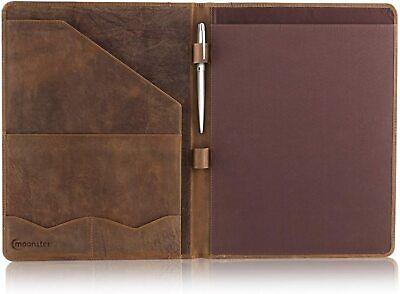 Leather Portfolio Professional Organizer Padfolio Resume Folder Luxury Stylish