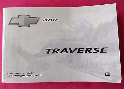 Chevrolet Chevy TRAVERSE 2010 Owner Manual