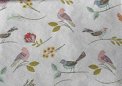 30 Sheets - Pastel Birds on Ivory background Tissue Paper # 287 -- ** SALE ** - Tissue Paper Backdrop
