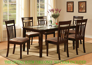 dining room kitchen table only in cappuccino finish size 36 x60
