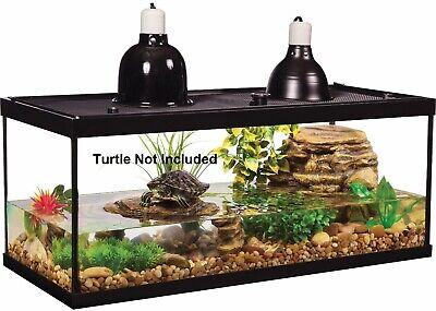 Glass Reptile Amphibian Terrarium Fish Aquarium Cage Tank Habitat Filter 2 Light