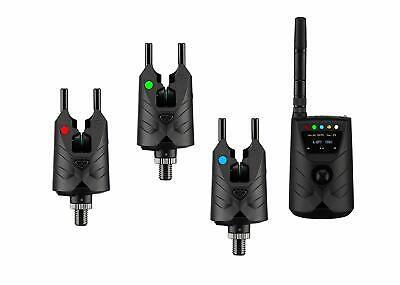 ND Tackle Wireless S9 3 Rod Fishing Bite Alarm Set&Screen Receiver carp fishing
