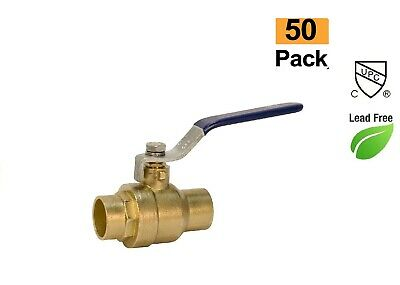 Plumbing Lot 50 34 Lead Free Sweat Solder Full Port Water Shutoff Ball Valve