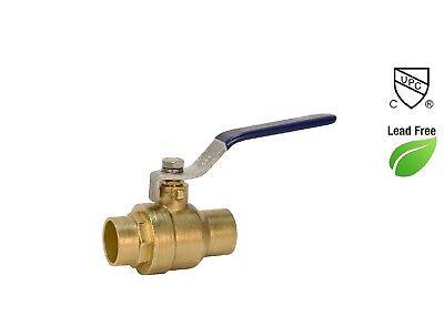Plumbing Lot 1 Pcs 2 Lead Free Sweat Solder Full Port Water Shutoff Ball Valve