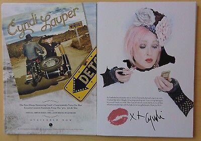 Cyndi Lauper - Detour 5x7 double sided promo postcard