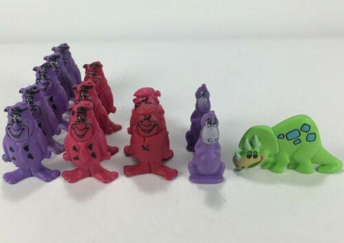 Vintage Flintstones Erasers Lot Cereal Prizes Fruity Pebbles Fred & Barney 1987