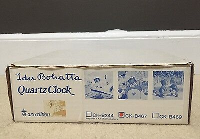 "Vintage Ida Bohatta Ars-edition Nursery Decor 9"" Clock Wood CK-B467 Rare Germany"