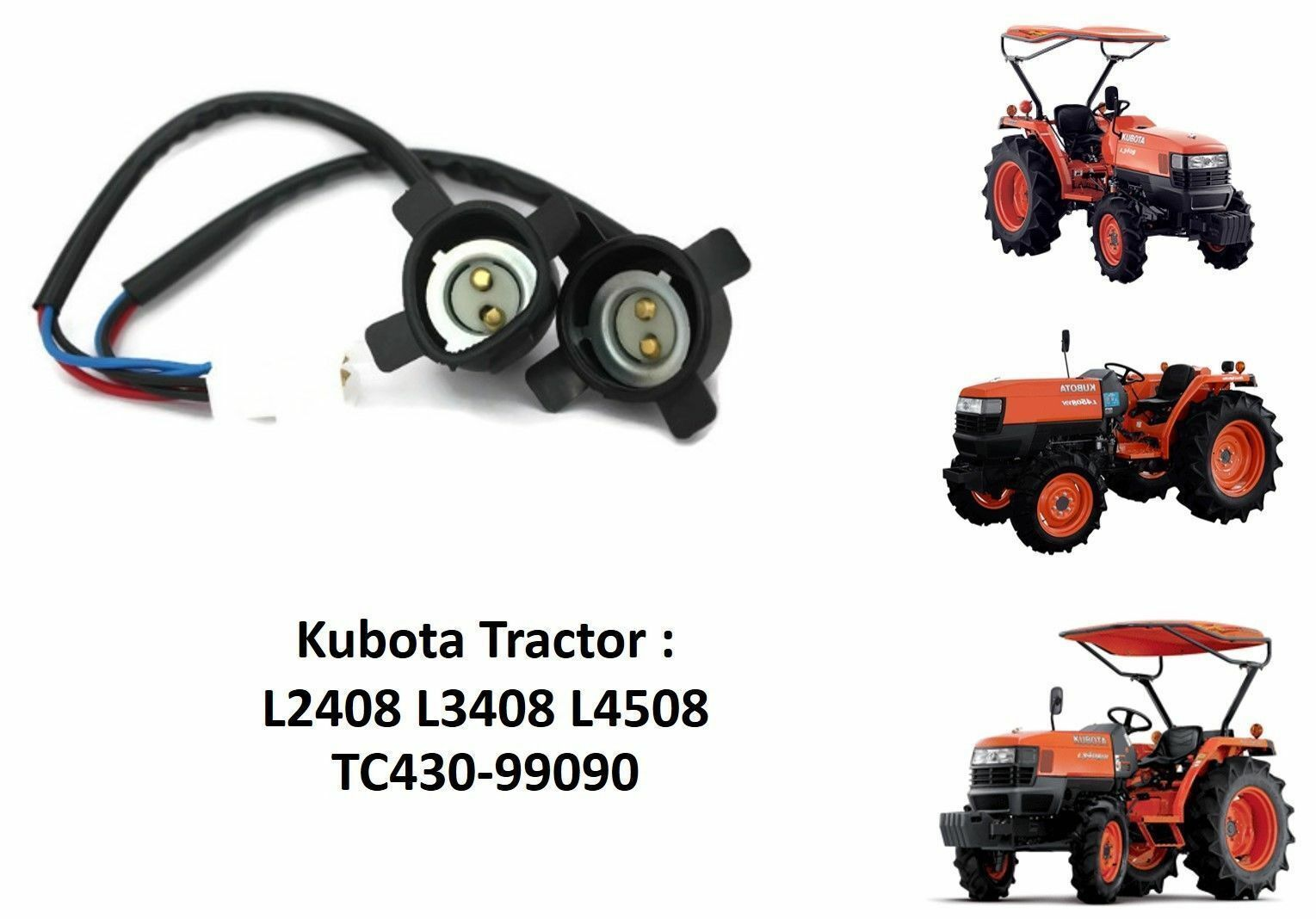 Kubota Assy Wire Harness Headlight Socket L3710dt Gst Hst Set Front Automotive Wiring Gallery