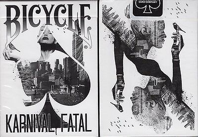 Karnival Fatal Bicycle Playing Cards Poker Size Deck USPCC Custom Limited Sealed