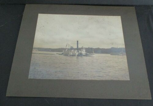 Early 1900s Photo of Steamship NORWICH on Hudson River