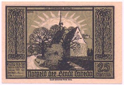 Notgeld Gutschein der Stadt Lobeda 25 Pfennig Ole Lobedaner Kirche