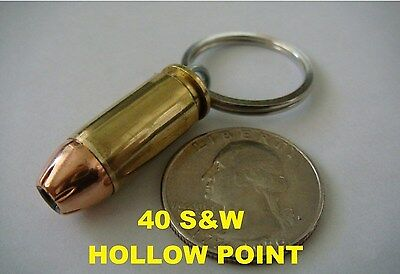 REAL BULLET KEYCHAIN 40S&W HOLLOW POINT