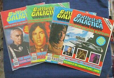 Lot of 4 1978 Battlestar Galactica Official Poster Magazines #1, 2, 3 & 4