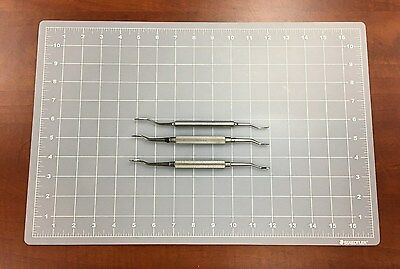 Miscellaneous Stainless Reverse Cut Nasal Rasp - Lot Of 3