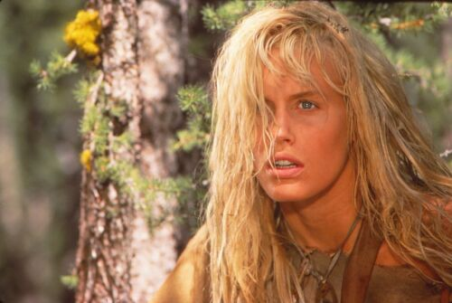DARYL HANNAH - CLAN OF THE CAVE BEAR - ORIGINAL PUBLICITY SLIDE - 1986