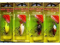 Spro Trout Master FLAT MINI CRANK 30 Green Perch 30mm 2g Wobbler 1,00m NEW OVP