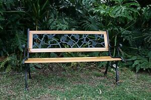 Vintage 3 Seater  Cast Iron Outdoor Bench Seat Chair Hornsby Heights Hornsby Area Preview