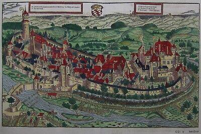 Simmern im Hunsrück - Die Statt Siemern - Sebastian Münster 1550 - Original