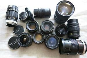 Cameras & M42 Lenses for 4/3M ,NEX,Nikon,Canon cameras,Pentax South Yarra Stonnington Area Preview