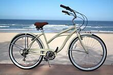 Ladies Beach Cruiser 7 Speed Shimano gears 3 Colours Brand New! Miami Gold Coast South Preview
