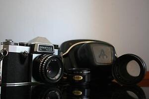 Praktica PL Nova 1B SLR Film Camera + 50mm Lens + Zoom Lens Ingleburn Campbelltown Area Preview