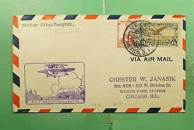 DR WHO 1928 MEXICO FIRST FLIGHT MEXICO CITY TO BROWNSVILLE FAM 8?  g15351