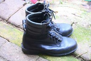 REDBACK Combat  Black Leather Steel Cap Lace-up Zip Boots Size 10 Carey Gully Adelaide Hills Preview