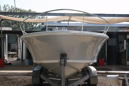 sport fisher and trailer
