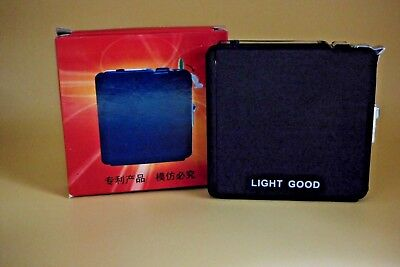 Sturdy Cigarette Case With Built In Jet Torch Lighter King Size USA Stocked