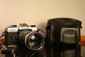 Fujica ST605N SLR Camera + 135mm 3.5 Lens + Case - Working Ingleburn Campbelltown Area Preview