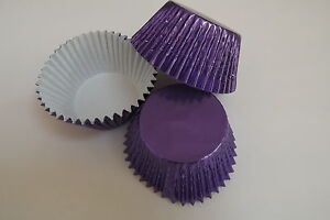 NEW-COLOUR-pack-of-50-x-LILAC-Foil-muffin-cup-cake-cases