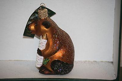 Beaver Old World Christmas glass ornament