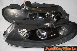 Holden VT Monaro ANGEL EYE Halo Commodore Black Altezza Headlights Pair