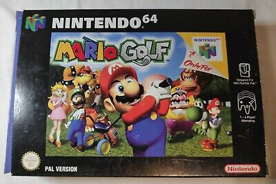 Mario Golf Nintendo 64 N64 PAL Boxed Game With Manual and Box Protector