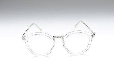 ZEROUV OVERSIZED RETRO CLEAR LENS SUNGLASSES CLEAR/SILVER EMBELLISHED FRAME (Zerouv Clear Frames)