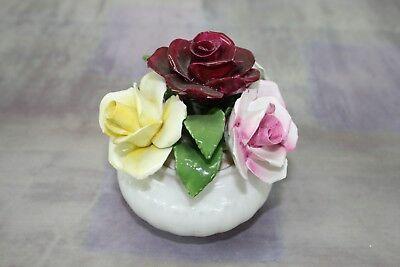 Radnor BONE CHINA Floral Bouquet Rosenkorb aus Porzellan Zierobjekt Dekoration China Floral Bouquet