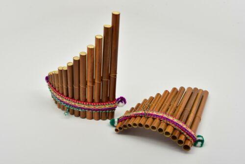 "Beautiful Inka Tumi 7"" Instrument  Bamboo Pan Flute Artisan Siku Zampona Antara"