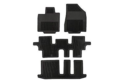 13 18 Nissan Pathfinder Black All Season Weather Rubber Floor Mats Set OEM NEW