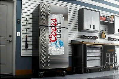 Coors Light Beer fathead wall sticker 4' dorm room man cave refrigerator