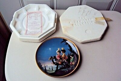 "1991 Hamilton Collection ""They Followed The Star"" Precious Moments Plate"