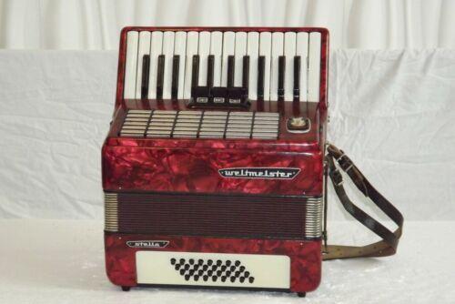 Piano accordion akkordeon  WELTMEISTER STELLA 32 bass