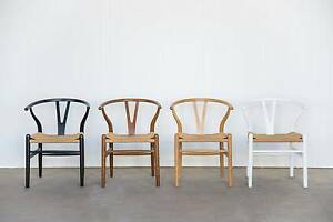 Hans Wegner Replica Wishbone Chairs - Oak, white, black Brisbane Region Preview