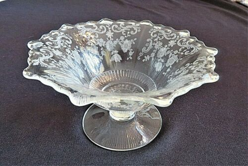Vintage Elegant Glass Etched Cambridge CHANTILLY Mayonnaise Bridal Gifts for Her
