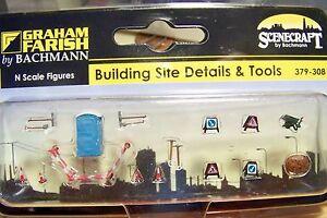 N scale Bachmann Building Site / Road Repair  Model Details & Tools  # 308