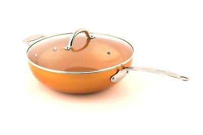 Original Copper Pan 12 Non-stick Wok With Lid