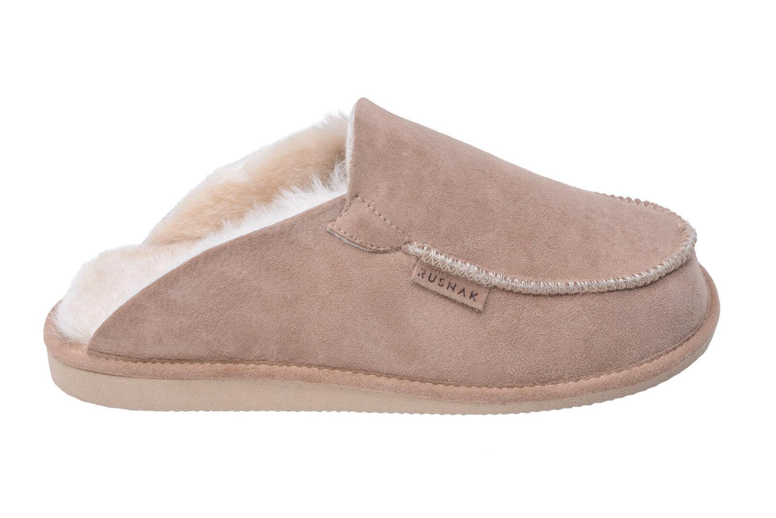 Mens Womens Genuine Sheepskin Suede Mule Slippers With