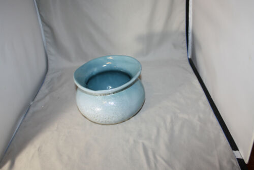 Bybee  5 inch Blue Spitoon? Planter, Textured ?  Pre owned, Factory Second?