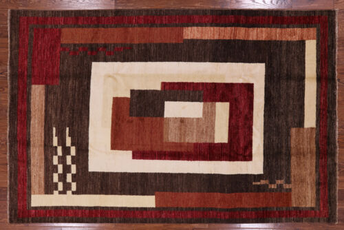 Hand Knotted 7 X 10 Gabbeh Area Rug - P4244