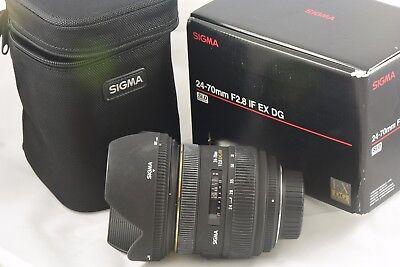 Sigma 24 70Mm F 2 8 Ex Dg If Lens For Nikon