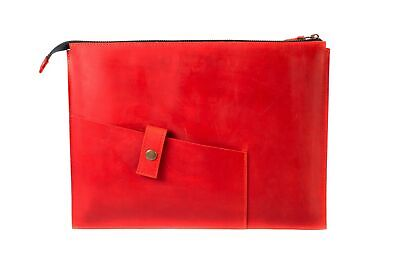 Zippered Leather Sleeve for MacBook Apple Air Laptop Best Protector Bag